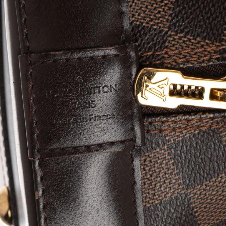 Louis Vuitton Damier Ebene Canvas Alma MM Bag For Sale 3