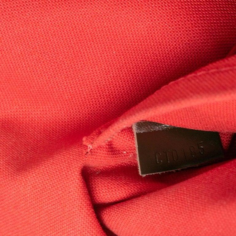 Louis Vuitton Damier Ebene Canvas Alma MM Bag For Sale 4