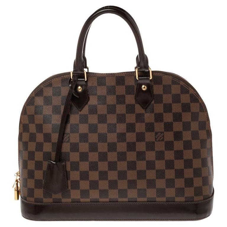 Louis Vuitton Damier Ebene Canvas Alma MM Bag For Sale
