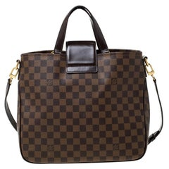 Louis Vuitton Damier Ebene Canvas and Leather Cabas Rosebery Tote
