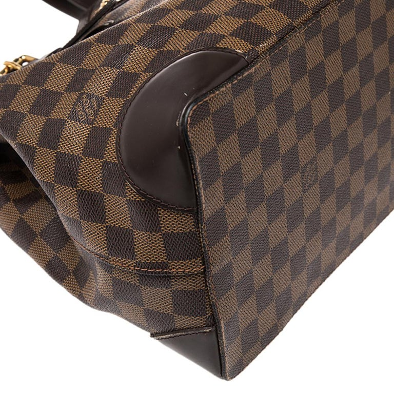 Louis Vuitton Damier Ebene Canvas and Leather Hampstead MM Bag For Sale 1