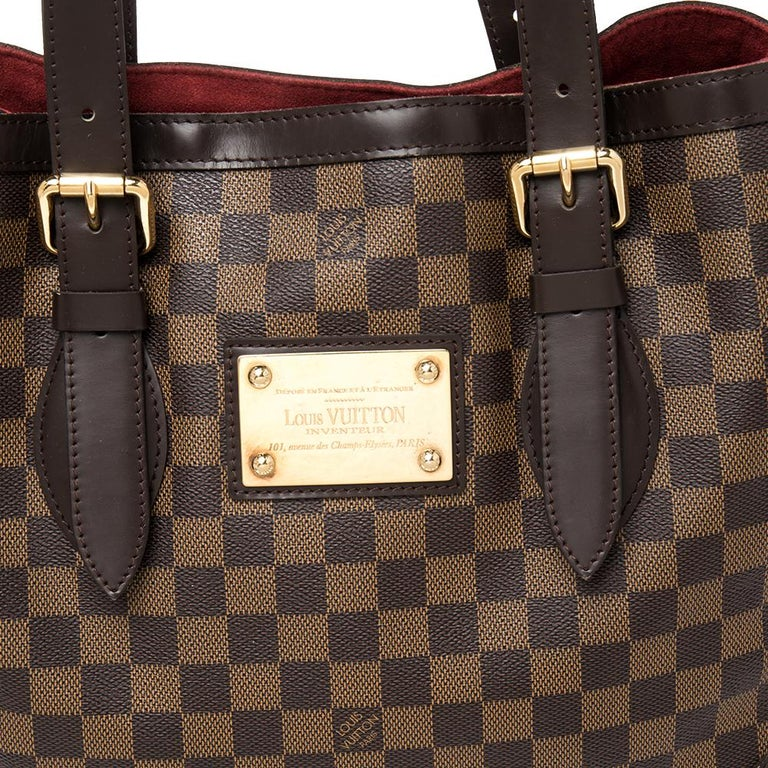 Louis Vuitton Damier Ebene Canvas and Leather Hampstead MM Bag For Sale 3
