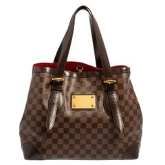 Louis Vuitton Damier Ebene Canvas and Leather Hampstead MM Bag