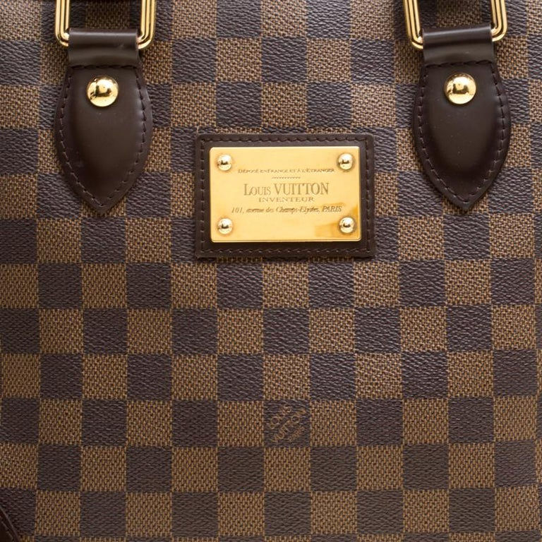 10dfa28da99b Louis Vuitton Damier Ebene Canvas and Leather Hampstead PM Bag For Sale 2
