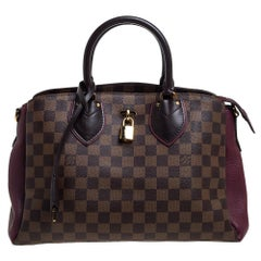 Louis Vuitton Damier Ebene Canvas and Leather Normandy Bag