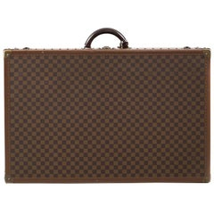 Louis Vuitton Damier Ebene Canvas Anglais Alzer 80 Hardsided Luggage Trunk