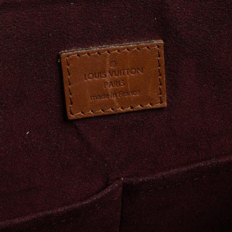 Louis Vuitton Damier Ebene Canvas Belmont Bag For Sale 5