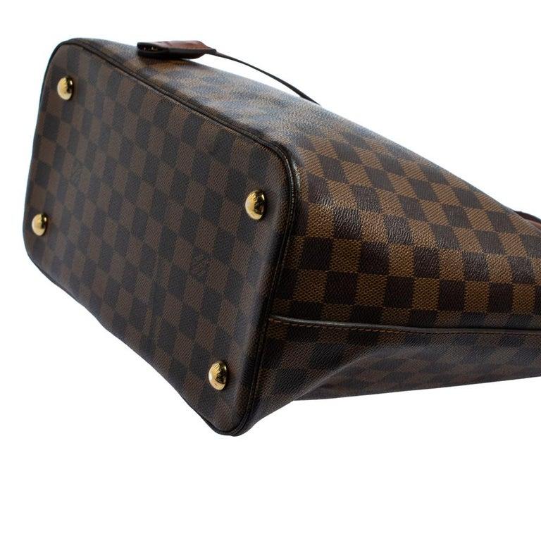 Louis Vuitton Damier Ebene Canvas Belmont Bag For Sale 6