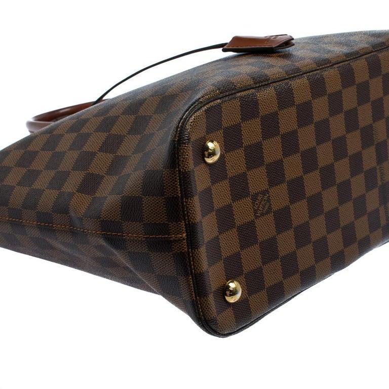 Louis Vuitton Damier Ebene Canvas Belmont Bag For Sale 7