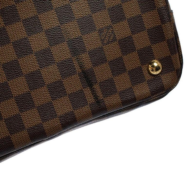 Louis Vuitton Damier Ebene Canvas Belmont Bag For Sale 8