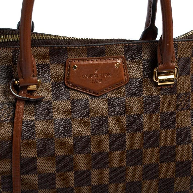 Louis Vuitton Damier Ebene Canvas Belmont Bag For Sale 10