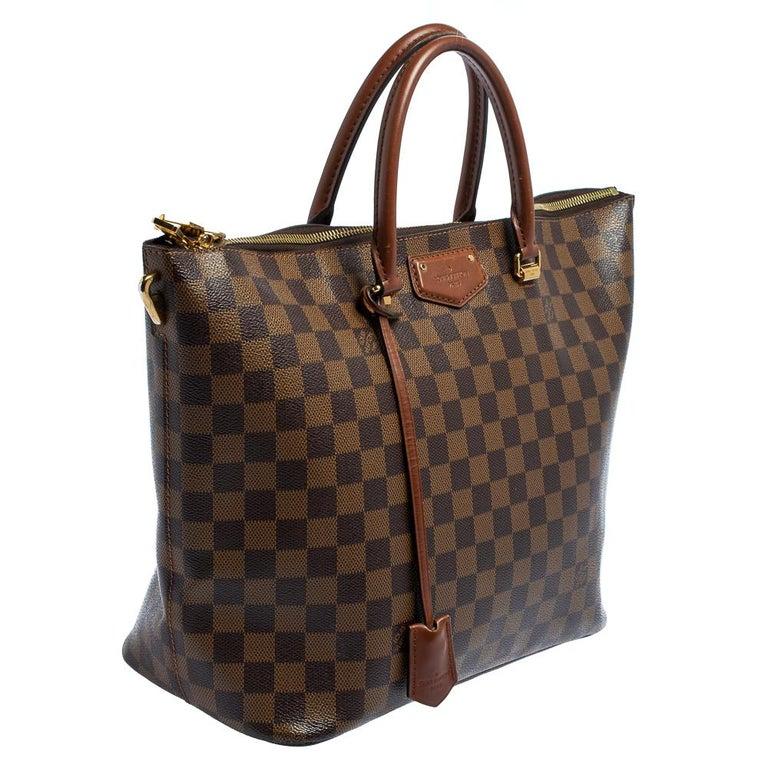 Black Louis Vuitton Damier Ebene Canvas Belmont Bag For Sale