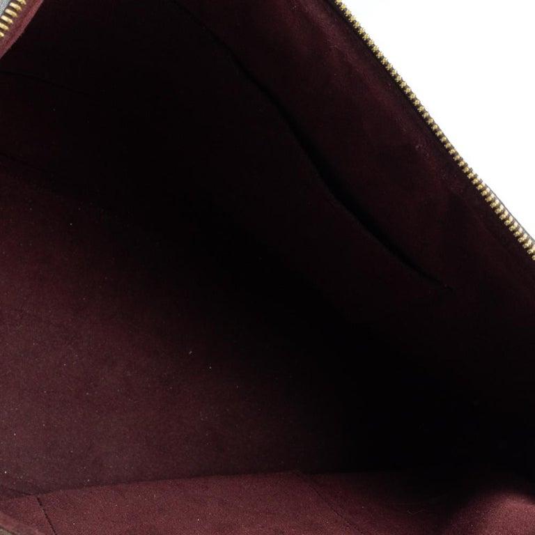 Louis Vuitton Damier Ebene Canvas Belmont Bag For Sale 2