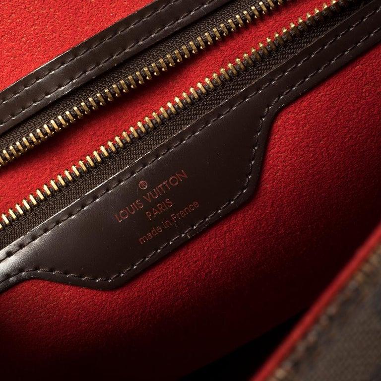 Louis Vuitton Damier Ebene Canvas Bergamo GM Bag For Sale 5
