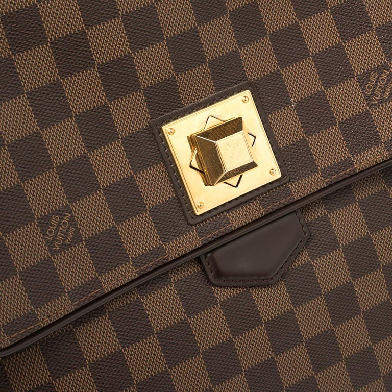Louis Vuitton Damier Ebene Canvas Bergamo GM Bag For Sale 6