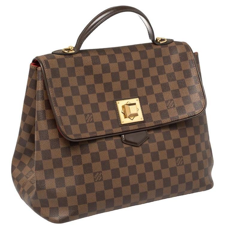 Louis Vuitton Damier Ebene Canvas Bergamo GM Bag In Fair Condition For Sale In Dubai, Al Qouz 2