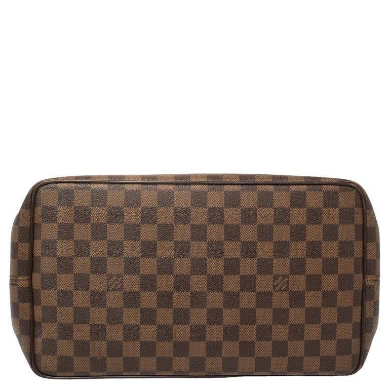 Women's Louis Vuitton Damier Ebene Canvas Bergamo GM Bag For Sale
