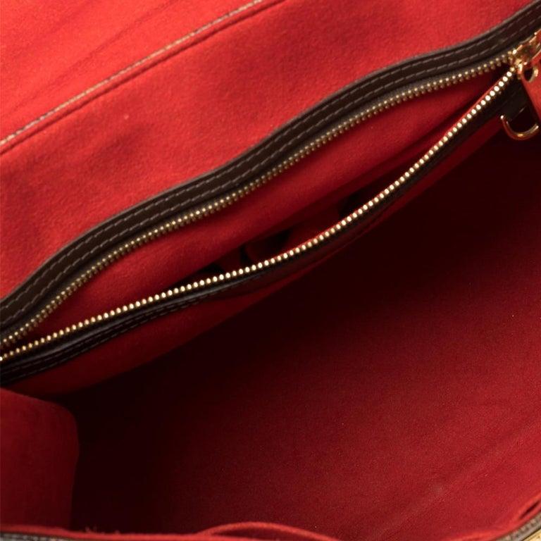 Louis Vuitton Damier Ebene Canvas Bergamo GM Bag For Sale 1