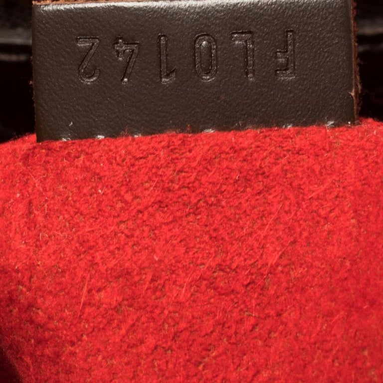 Louis Vuitton Damier Ebene Canvas Bergamo GM Bag For Sale 2