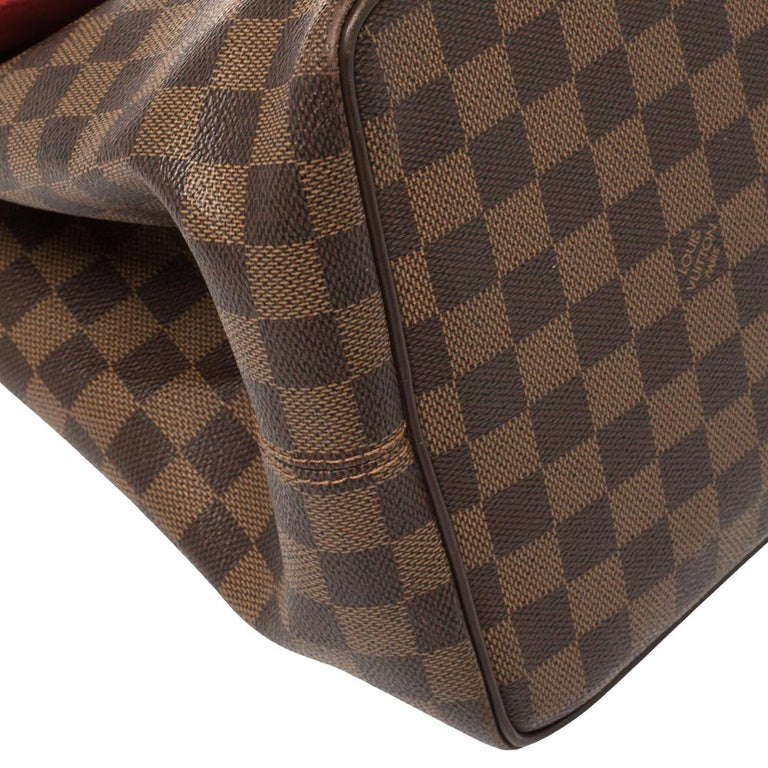 Louis Vuitton Damier Ebene Canvas Bergamo GM Bag For Sale 3