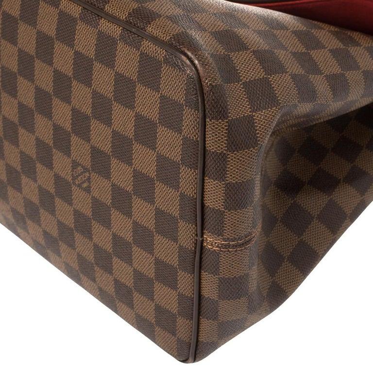 Louis Vuitton Damier Ebene Canvas Bergamo GM Bag For Sale 4