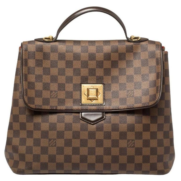 Louis Vuitton Damier Ebene Canvas Bergamo GM Bag For Sale