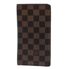 Louis Vuitton Damier Ebene Canvas Brazza Wallet