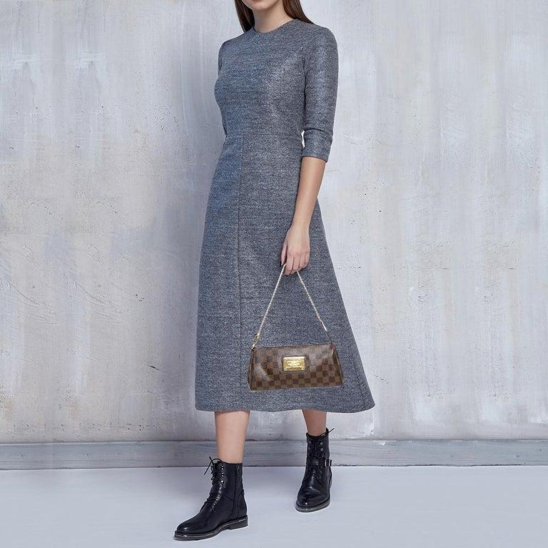 Black Louis Vuitton Damier Ebene Canvas Eva Pochette