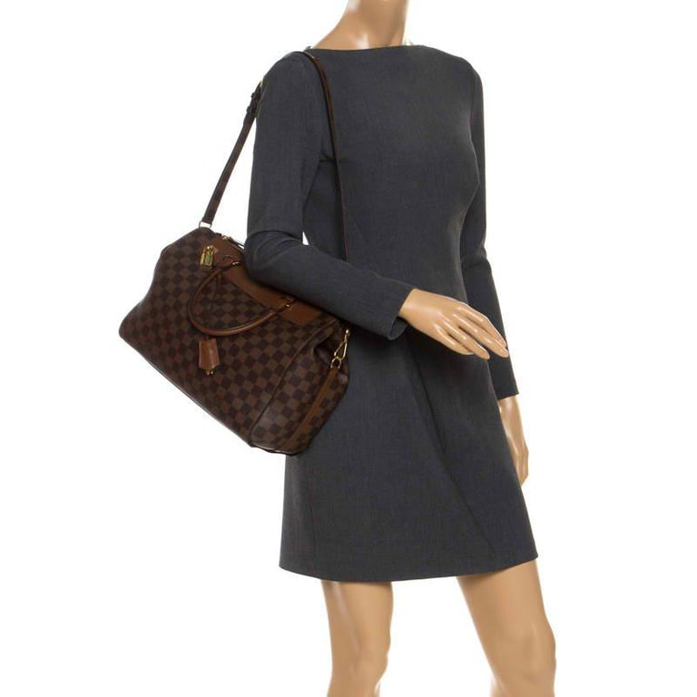 Louis Vuitton Damier Ebene Canvas Greenwich Bag In Good Condition For Sale In Dubai, Al Qouz 2