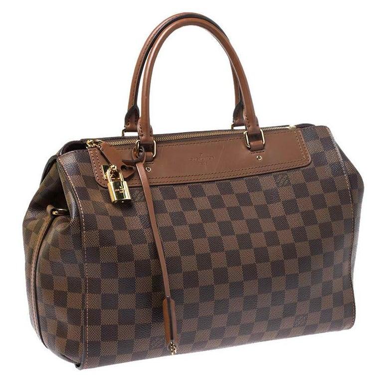 Women's Louis Vuitton Damier Ebene Canvas Greenwich Bag For Sale