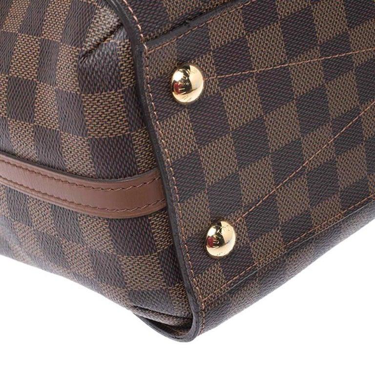 Louis Vuitton Damier Ebene Canvas Greenwich Bag For Sale 2