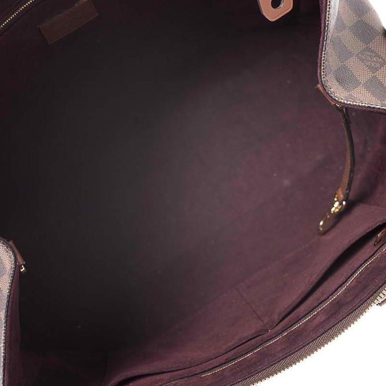 Louis Vuitton Damier Ebene Canvas Greenwich Bag For Sale 3