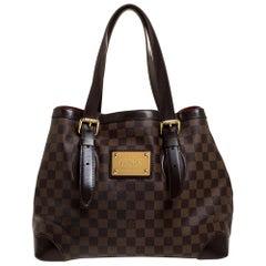 Louis Vuitton Damier Ebene Canvas Hampstead GM Bag