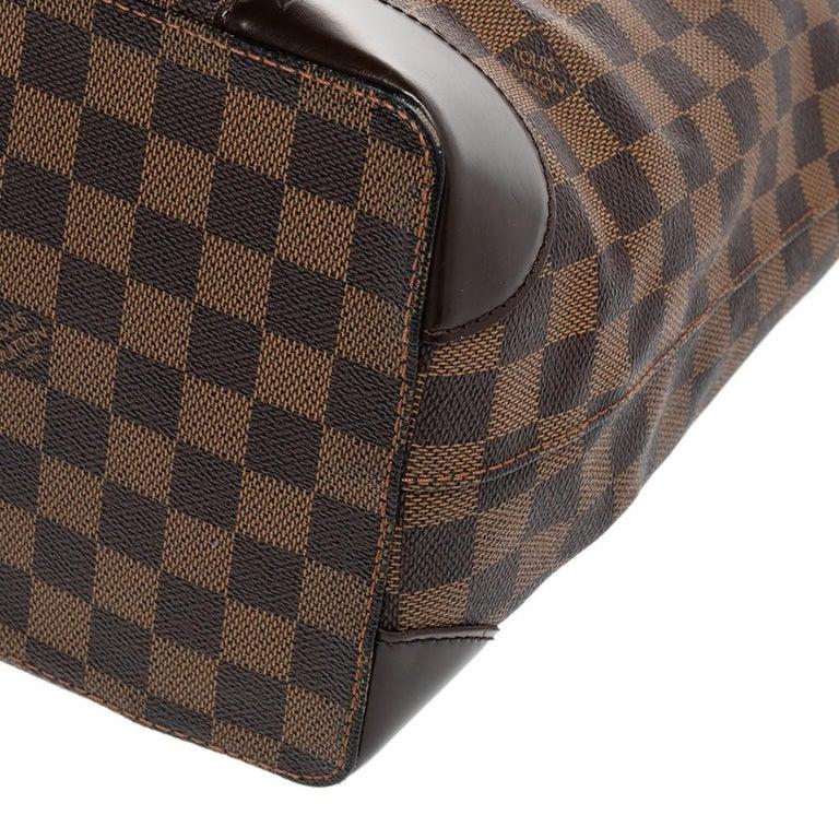 Louis Vuitton Damier Ebene Canvas Hampstead MM Bag For Sale 5
