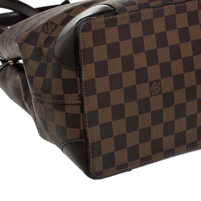 Louis Vuitton Damier Ebene Canvas Hampstead MM Bag For Sale 7