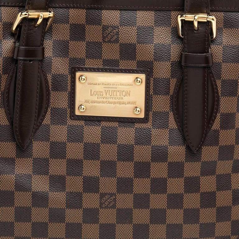 Louis Vuitton Damier Ebene Canvas Hampstead MM Bag For Sale 6