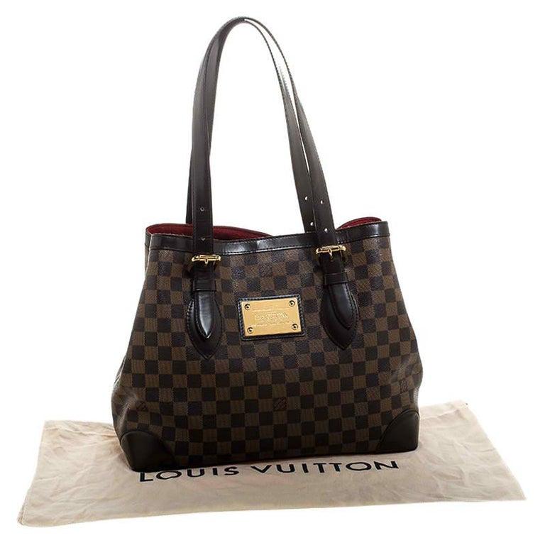 Louis Vuitton Damier Ebene Canvas Hampstead MM Bag For Sale 8