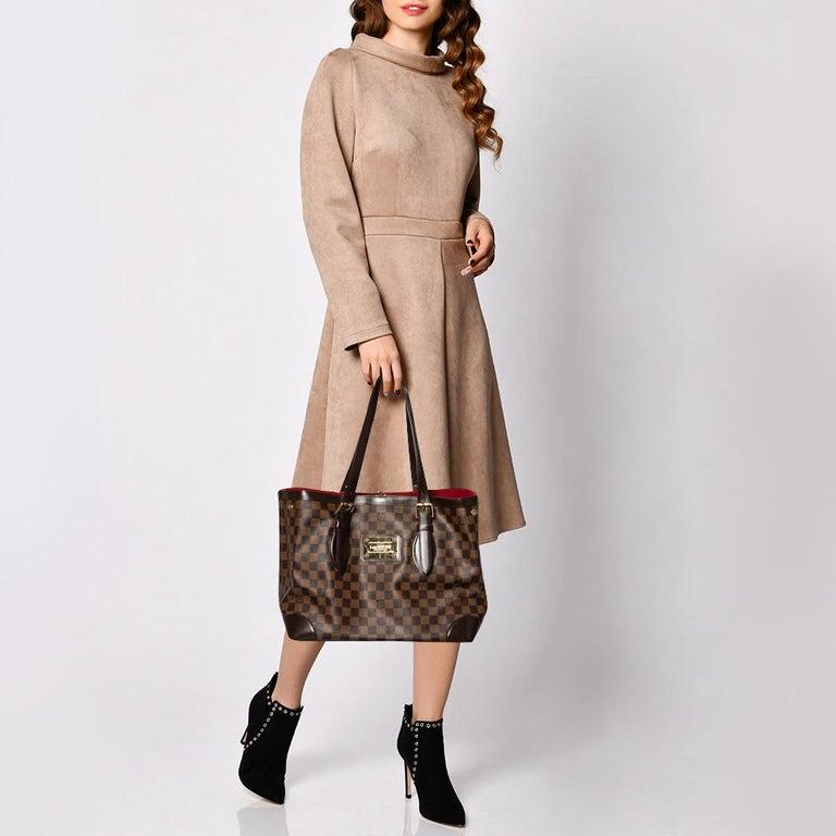 Black Louis Vuitton Damier Ebene Canvas Hampstead MM Bag For Sale