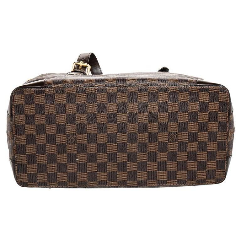 Women's Louis Vuitton Damier Ebene Canvas Hampstead MM Bag For Sale
