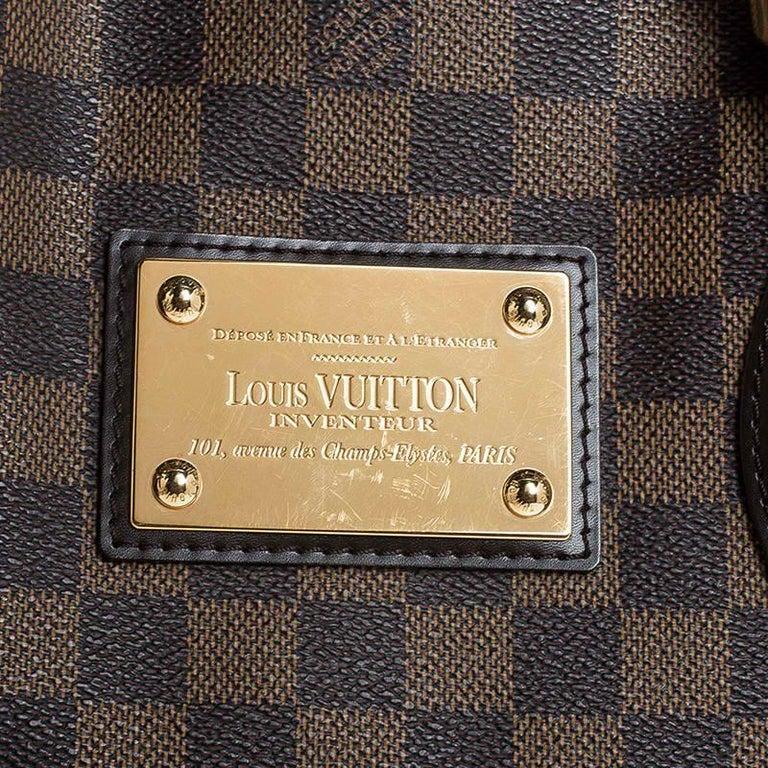 Louis Vuitton Damier Ebene Canvas Hampstead MM Bag For Sale 2