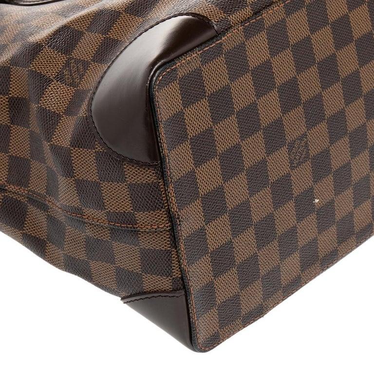 Louis Vuitton Damier Ebene Canvas Hampstead MM Bag For Sale 1