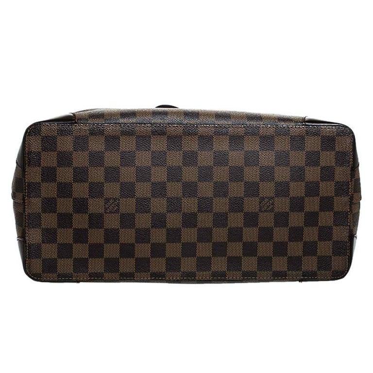 Louis Vuitton Damier Ebene Canvas Hampstead MM Bag For Sale 3