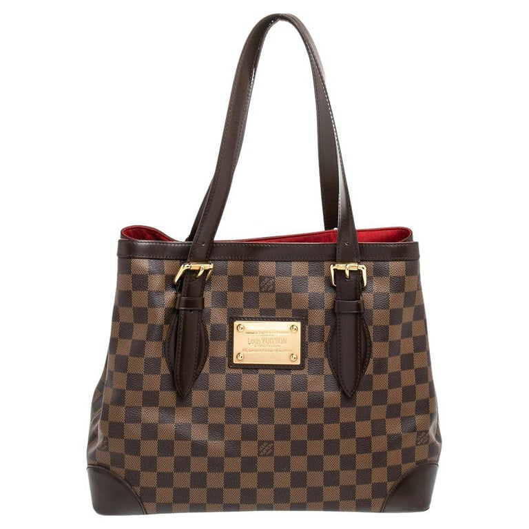 Louis Vuitton Damier Ebene Canvas Hampstead MM Bag For Sale