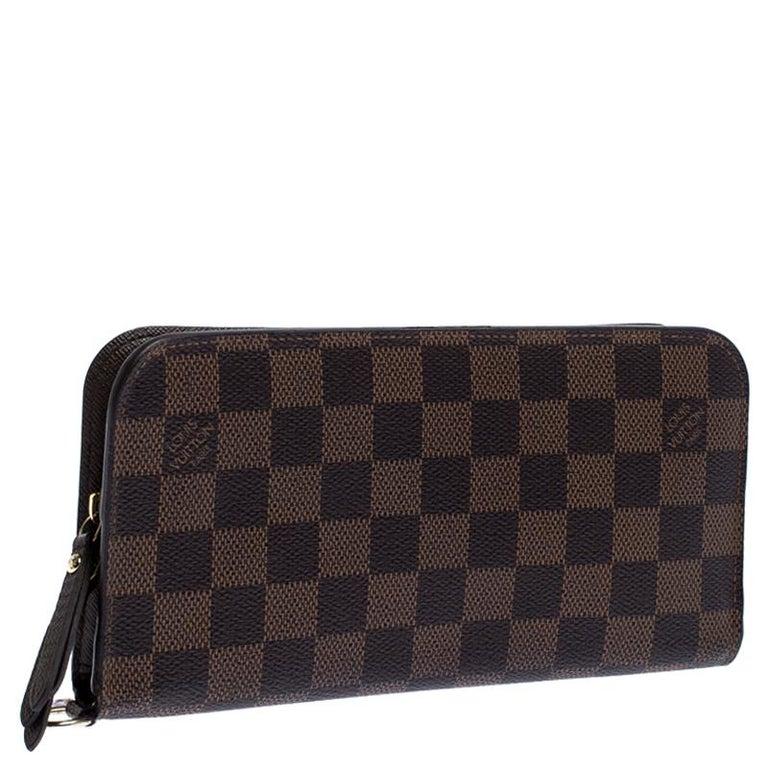 Women's Louis Vuitton Damier Ebene Canvas Insolite Wallet