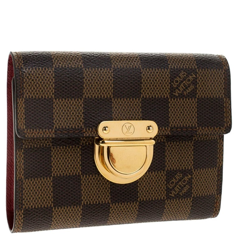 Louis Vuitton Damier Ebene Canvas Koala Wallet In Good Condition For Sale In Dubai, Al Qouz 2