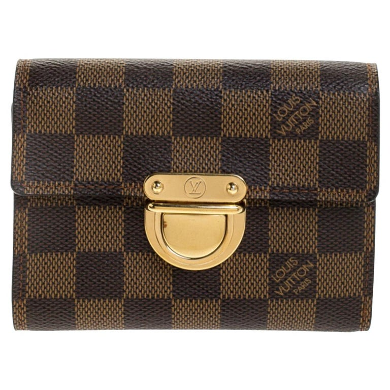 Louis Vuitton Damier Ebene Canvas Koala Wallet For Sale