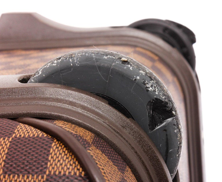 Women's or Men's Louis Vuitton Damier Ebene Canvas Leather Pegase 45 cm Luggage For Sale