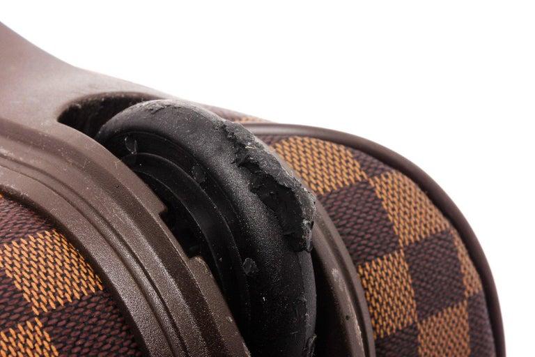 Louis Vuitton Damier Ebene Canvas Leather Pegase 45 cm Luggage For Sale 1