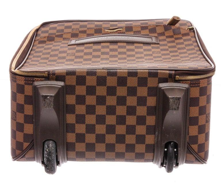 Louis Vuitton Damier Ebene Canvas Leather Pegase 45 cm Luggage For Sale 2