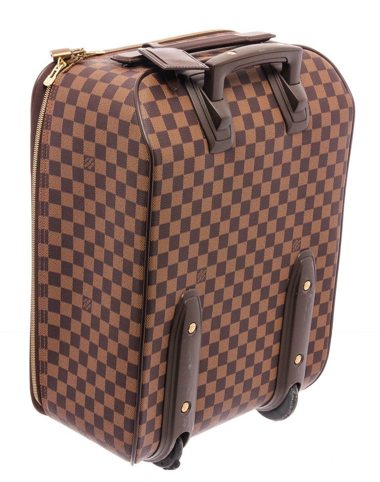 Louis Vuitton Damier Ebene Canvas Leather Pegase 45 cm Luggage For Sale 3